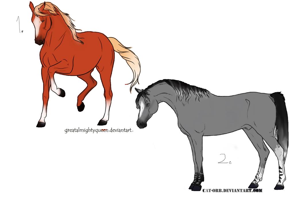 Horse adoptables .:open:. by TheAdoptArtist