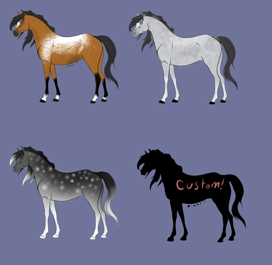Point horse adopts by TheAdoptArtist