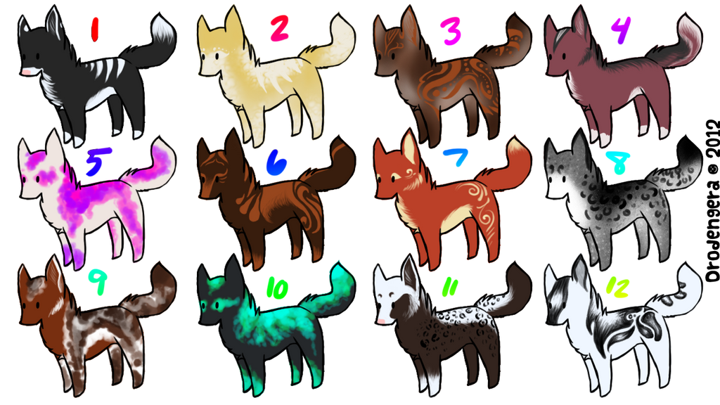 15 point Canine adopts -OPEN- [2/12] by TheAdoptArtist