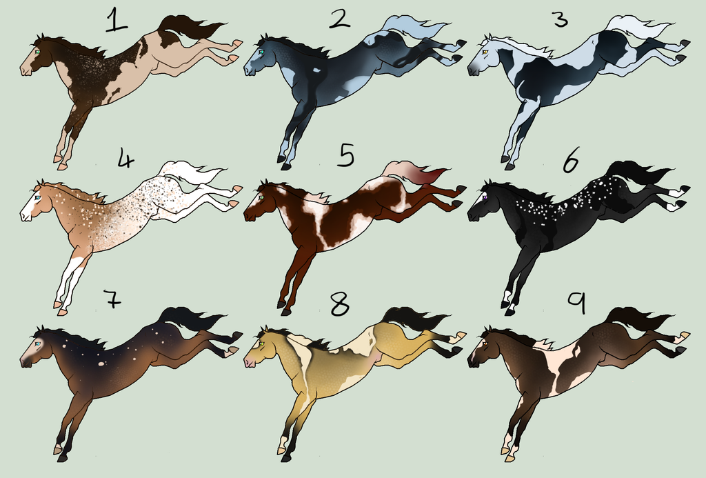 20 point horse adopts [1/9] -OPEN- by TheAdoptArtist