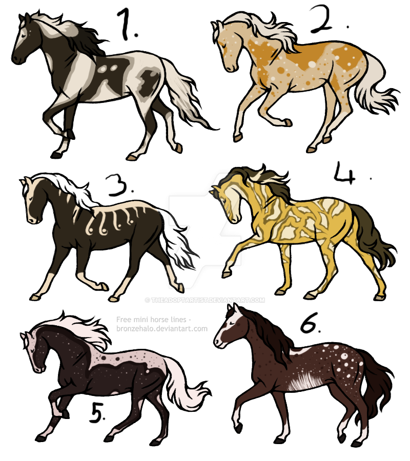 18 point horse adopts [0/6] [OPEN] by TheAdoptArtist