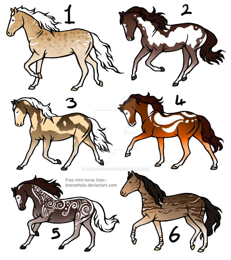20 point horse adopts [2/6] -OPEN- by TheAdoptArtist