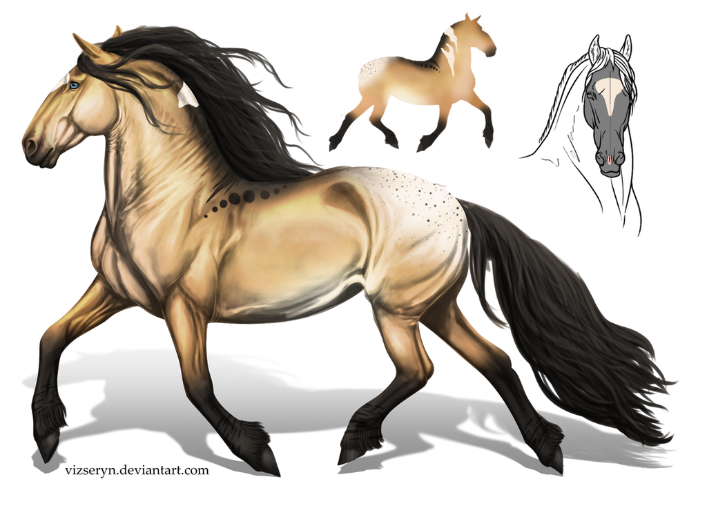 Lion pelt inspired Heavy horse Auction [CLOSED] by TheAdoptArtist