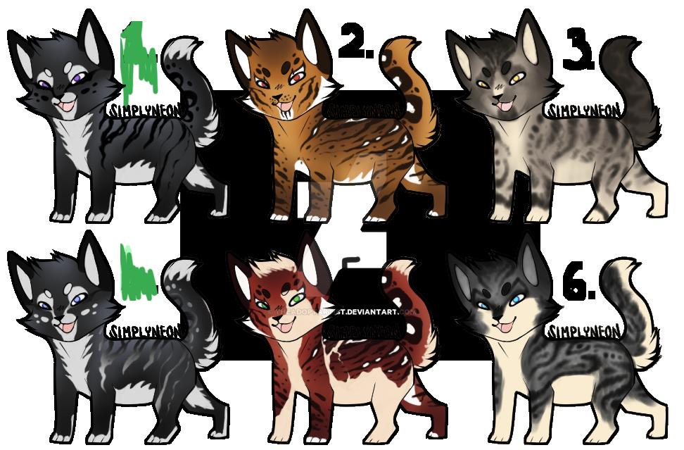 Cat Adopt batch 1 [1/6] [OPEN] by TheAdoptArtist
