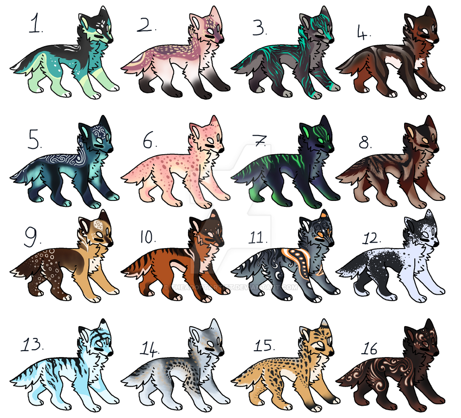 Canine design auction [CLOSED] by TheAdoptArtist