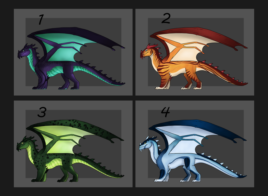 Western dragon Auction [3/4][CLOSED][flatsale now] by TheAdoptArtist