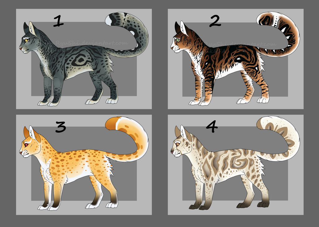 Feline Design auction [4/4] [OPEN] by TheAdoptArtist