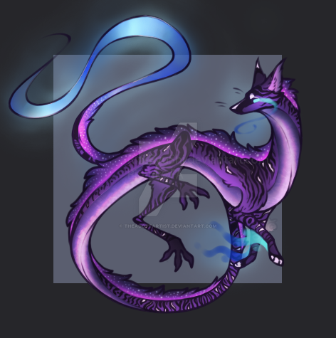 Purple Spitfire Dragon Auction [CLOSED] by TheAdoptArtist