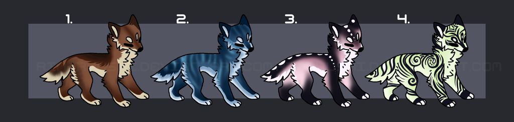 Wolf adopts batch 1 feb2018 by TheAdoptArtist