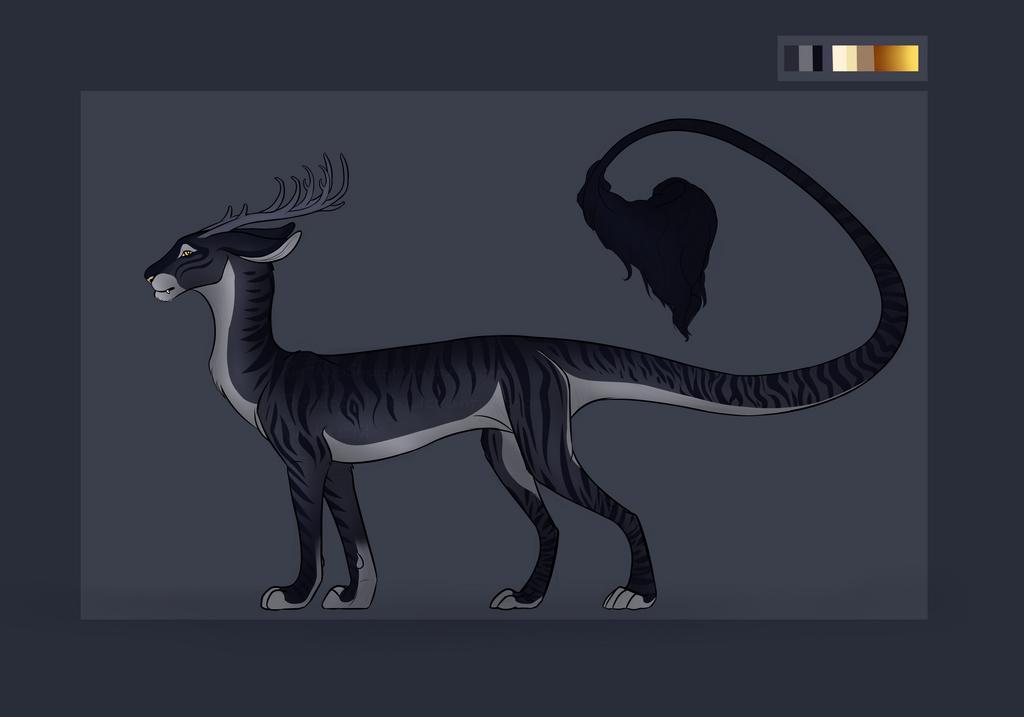 Feline/Dragon/Cervid Hybrid Auction [OPEN] by TheAdoptArtist