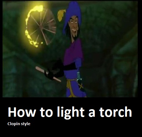 Light a torch by DragonTina