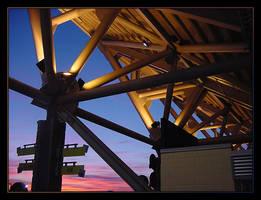 Sunset at Seahawks Stadium