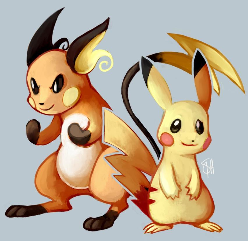 Pikachu and raichu dancing - photo#21