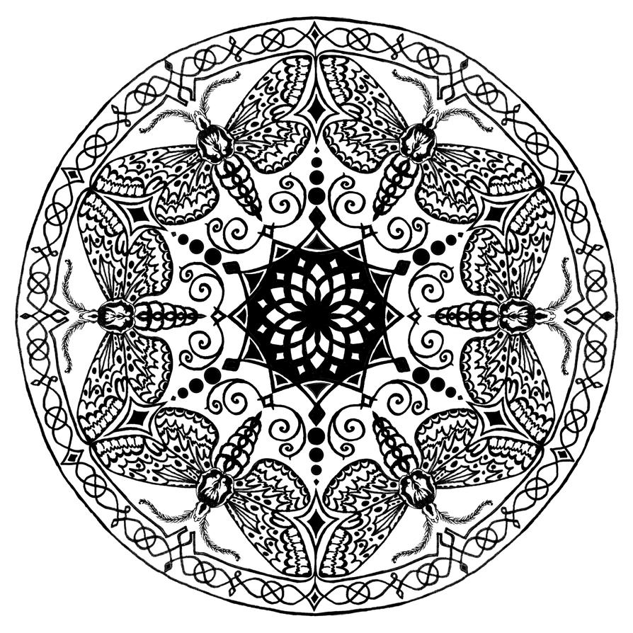 Moth Mandala By Ajerf On Deviantart