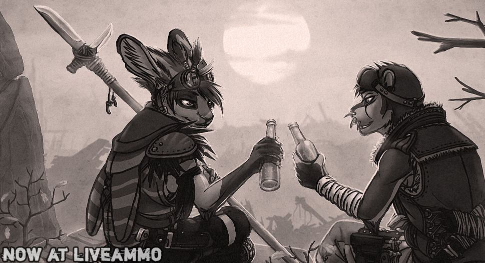 friendly drinks by fighter-jet