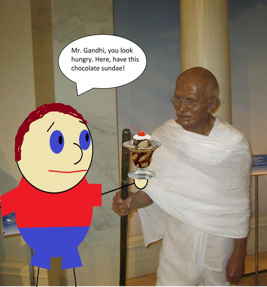 Danny meets Gandhi by DanielLaux429