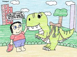 Drawgust - Danny + the Dinosaur - MY Version!