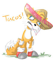 Tails in a Sombrero by TAT3XD