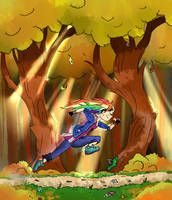 Running Rainbow Dash by TAT3XD