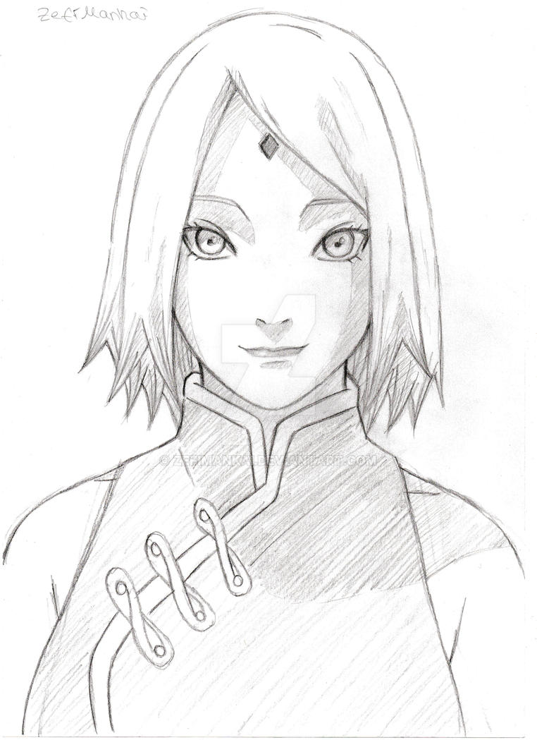how to draw sakura from naruto