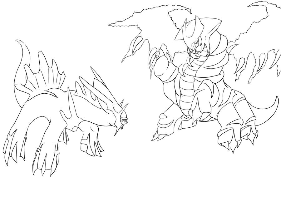 coloring pages giratina - photo#21