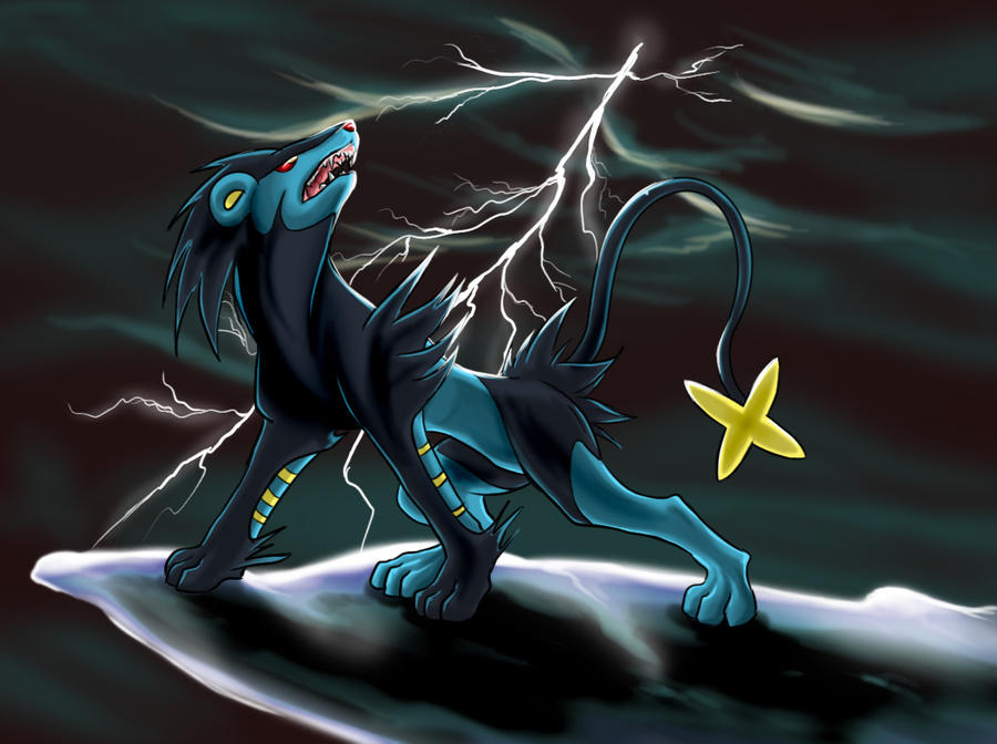 Luxray In Lightning By Artico