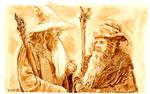 Gandalf and Radagast in coffee