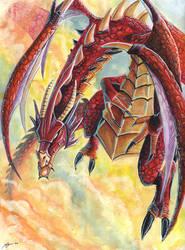 Acrylic Dragon by mickyoko