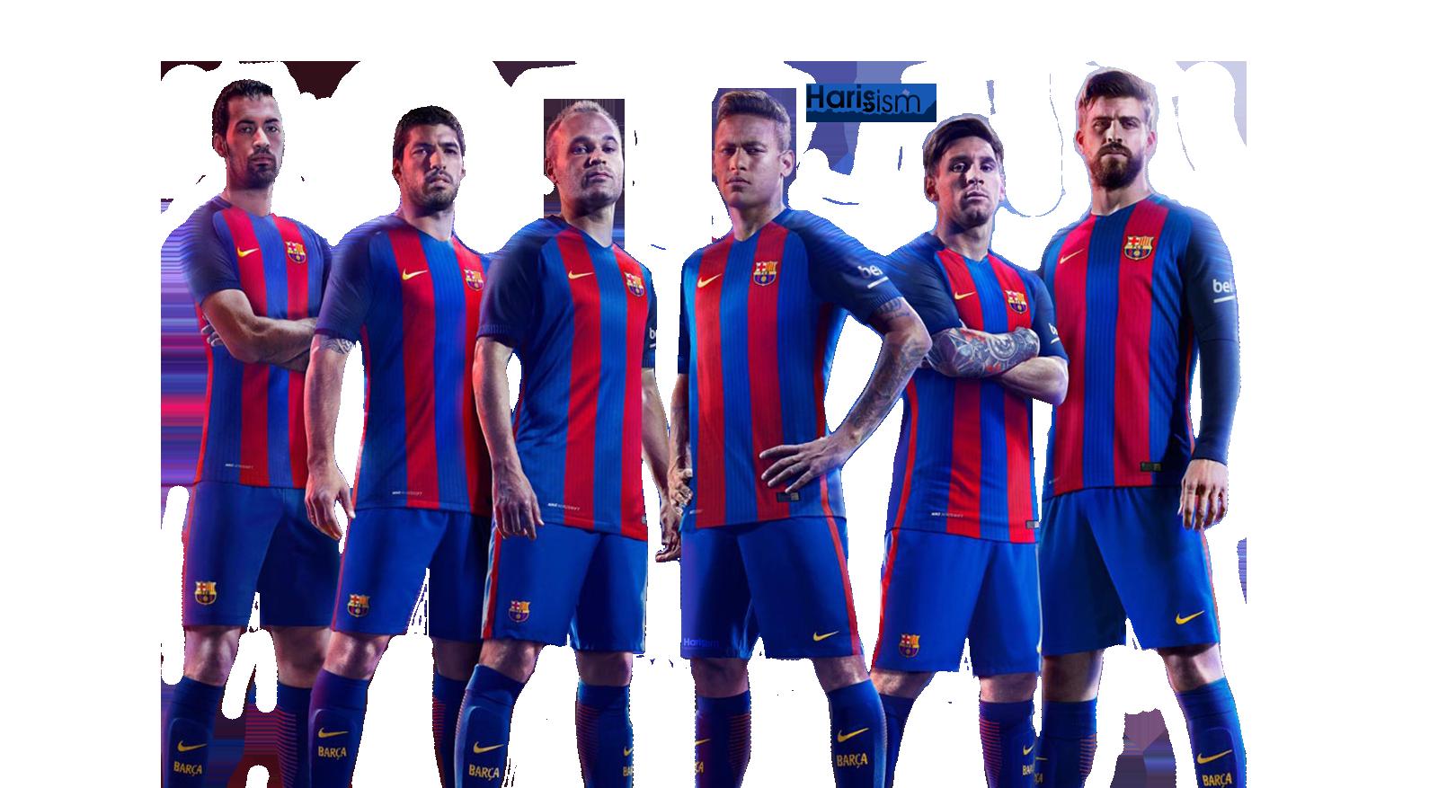 Fc barcelona 2016 17 render png by hitman26 on deviantart - Render barcelona ...