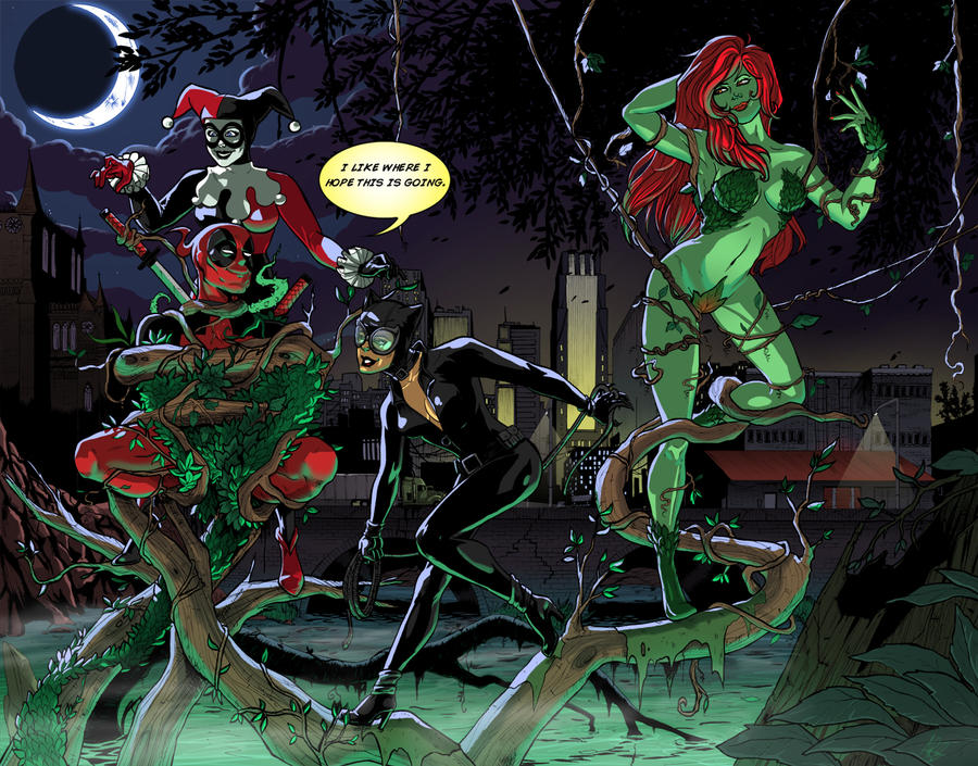 Deadpool and the Sirens by AnnaMariaBryant