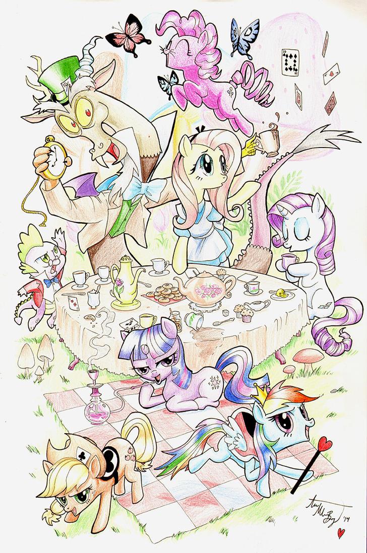 Ponies in Wonderland by AnnaMariaBryant