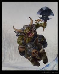 Orc boar rider