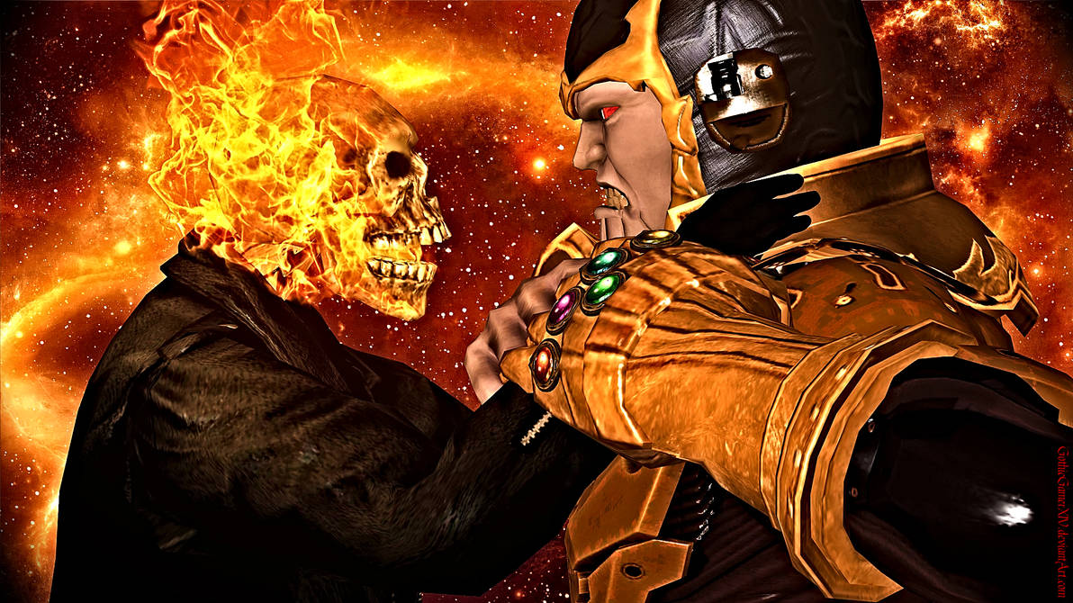 Ghost Rider Vs Thanos By Gothicgamerxiv On Deviantart