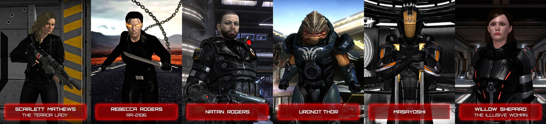 Characters of The New Order: A Mass Effect Story