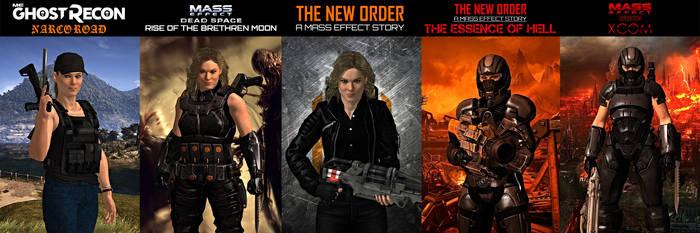 Scarlett Matthews (OC) in each storyline by GothicGamerXIV
