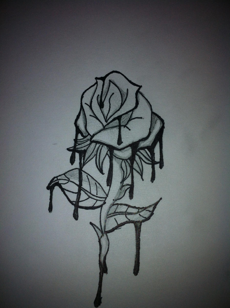My Rose Tattoo Drawing By Xioxas98 On DeviantArt