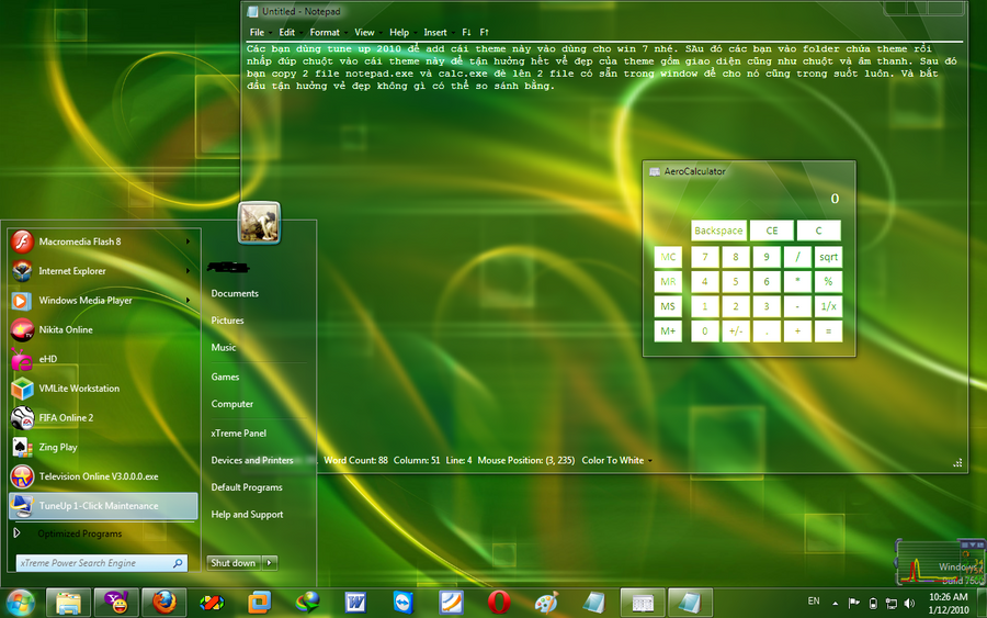 Download windows 7 full glass theme for xp.