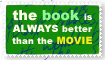 book than movie stamp