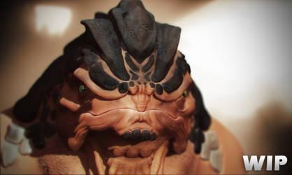 Krogan Grunt Mass Effect ZBrush WIP