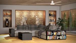 Architecture Visualisation Lounge Room