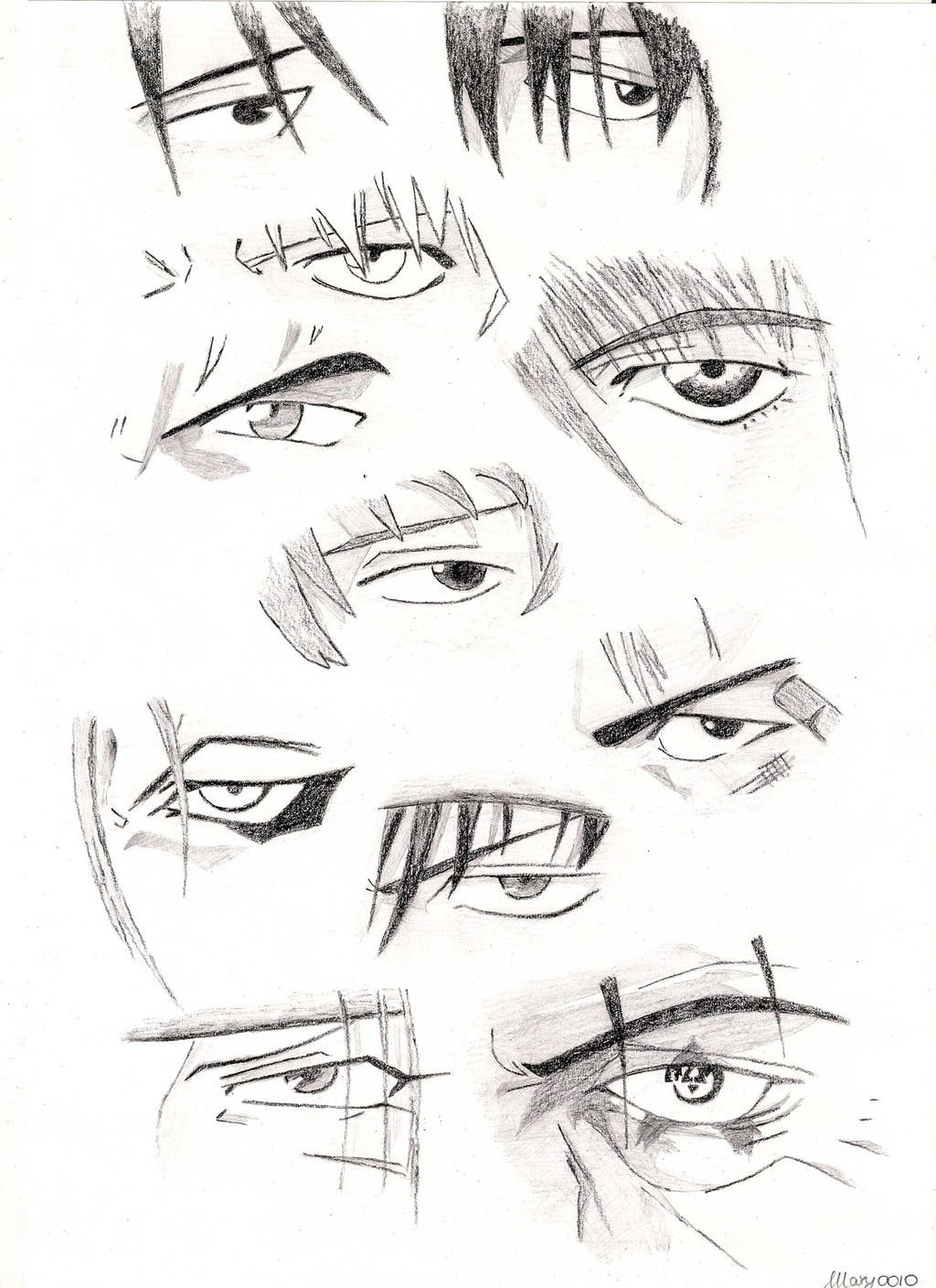 Male Characters Anime Eyes By Marivel87