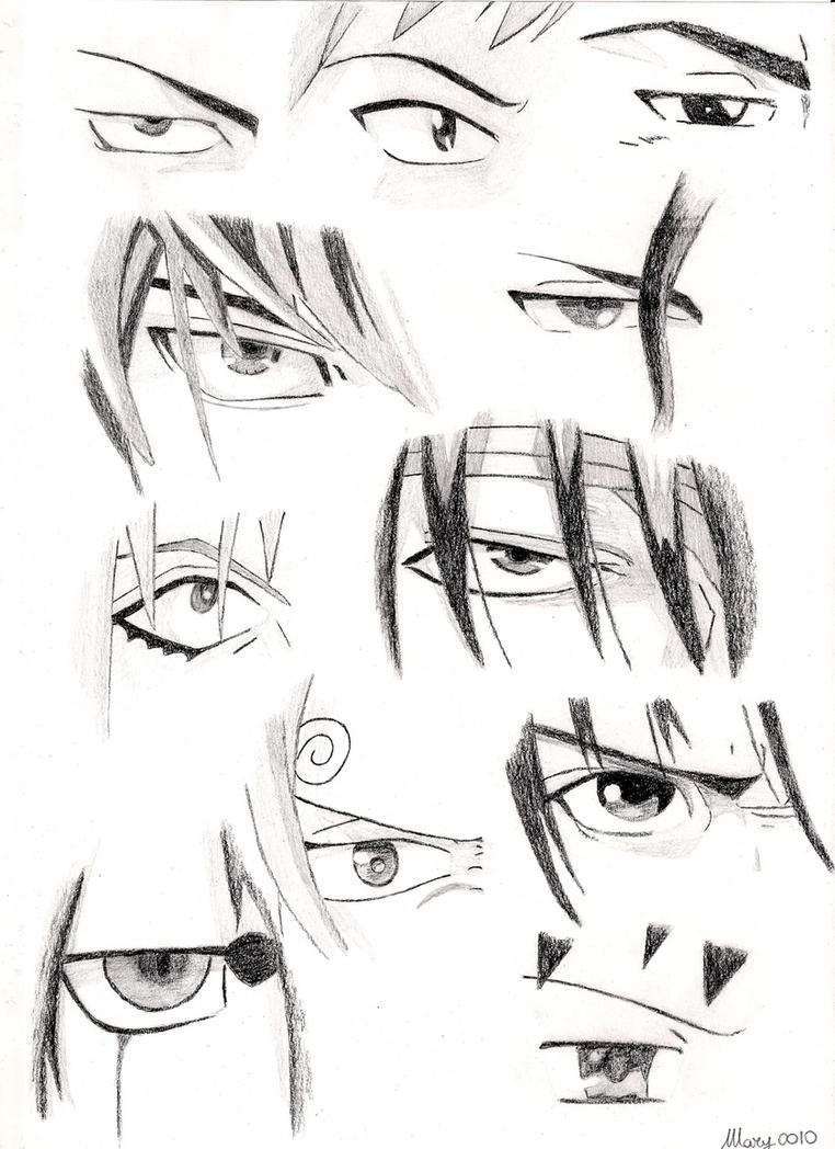 Male Characters Anime Eyes 2 By Marivel87