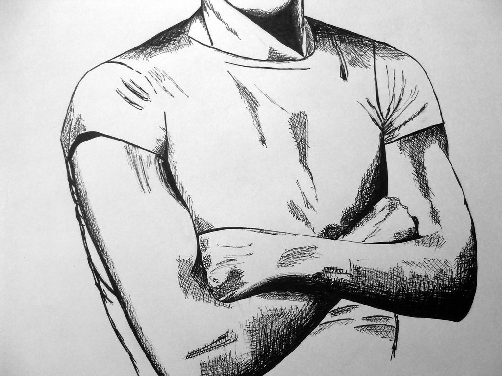 how to draw folded arms