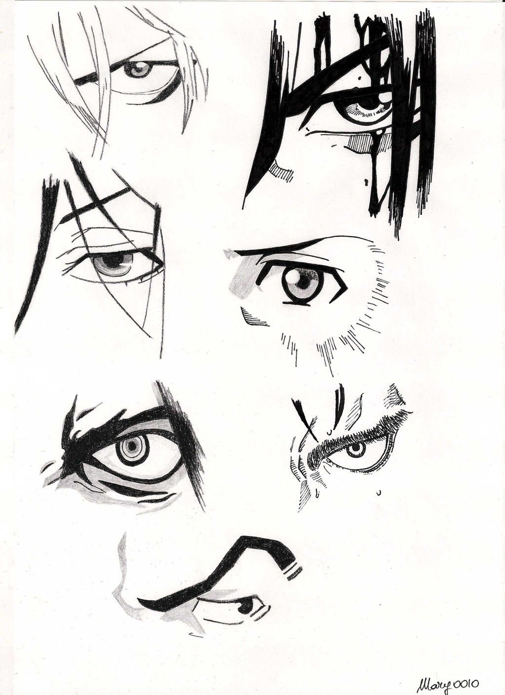 Male Characters Manga Eyes By Marivel87