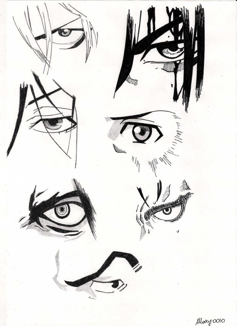 Male Characters Manga Eyes By Marivel87