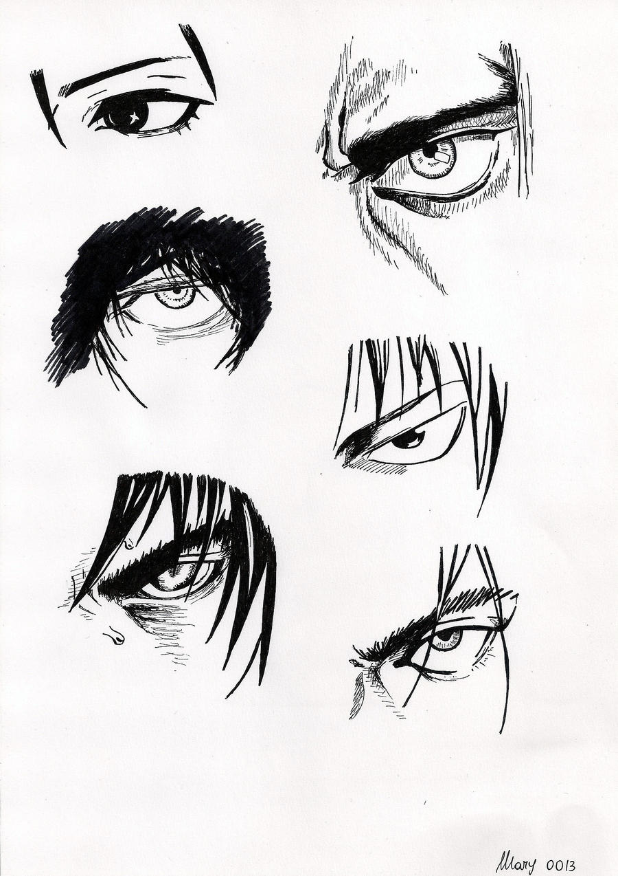 Male Characters Manga Eyes 2 By Marivel87