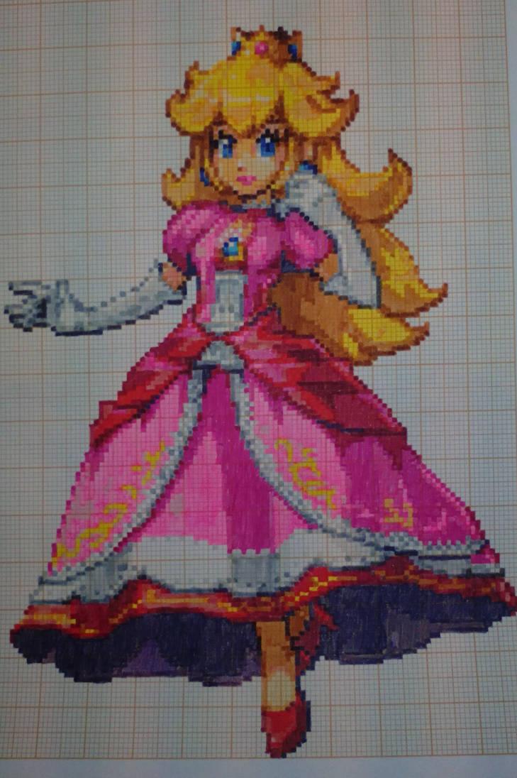 Pixel Art Super Smash Bros Peach By Paintpixelart On Deviantart