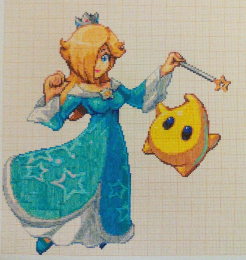 Pixel Art Super Smash Bros Rosalina And Luma By