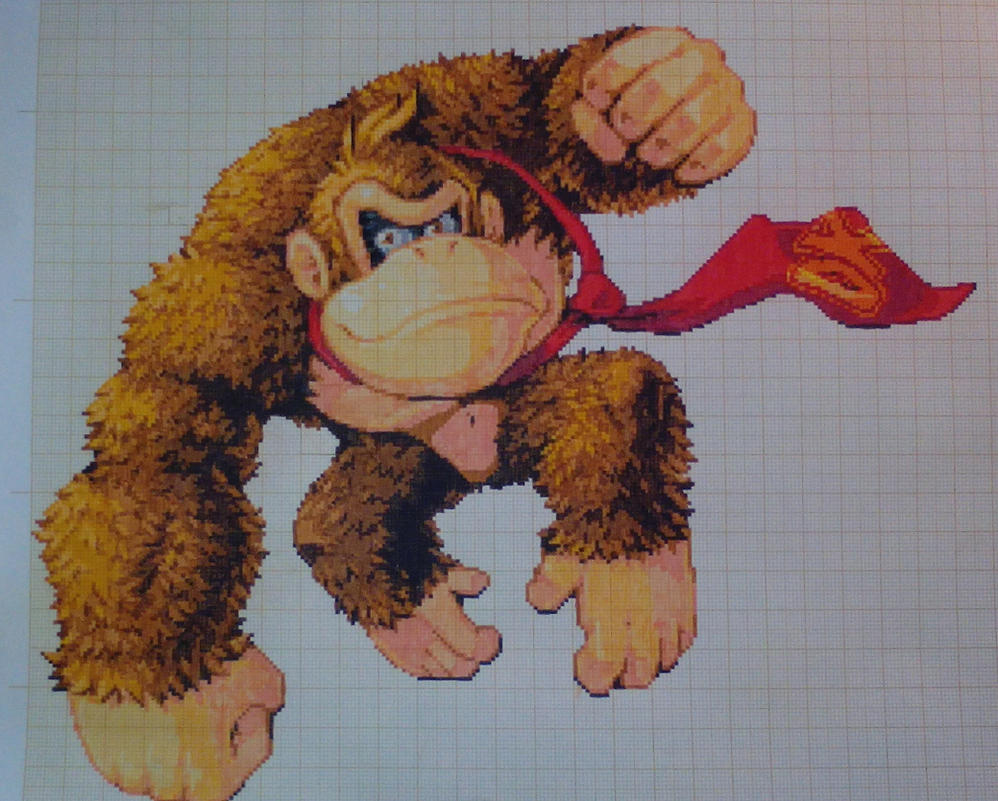 how to draw donkey kong from pixels