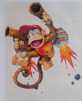 Pixel art Super smash bros: Diddy Kong by PaintPixelArt